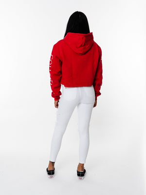 RED CROP JUMPER MANASSE COLLECTION Imperial Clothing