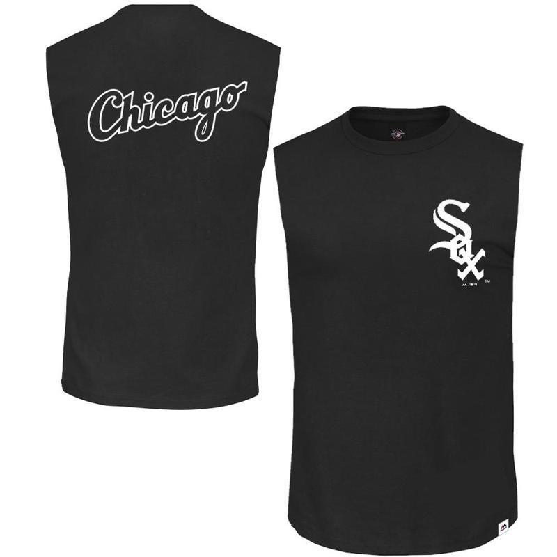 ENGLEWOOD MUSCLE TEE CHICAGO WHITE SOX (BLACK) Majestic Athletic Imperial Clothing