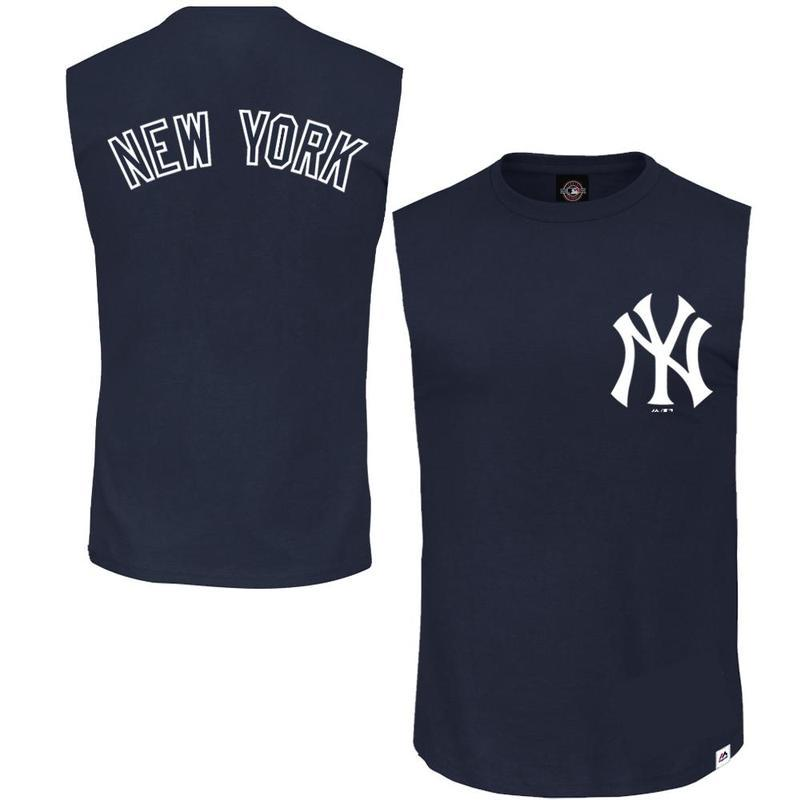 ENGLEWOOD MUSCLE TEE NY YANKEES (NAVY) Majestic Athletic Imperial Clothing