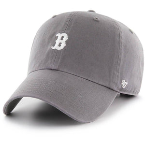 BOSTON RED SOX GREY BASE RUNNER CLEAN UP STRAPBACK 47 BRAND Imperial Clothing
