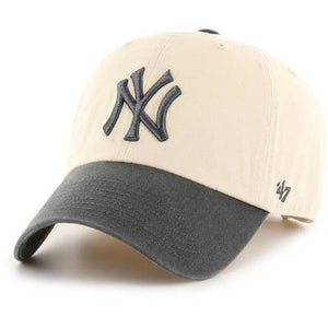 NY YANKEES NATURAL/CHARCOL CLEANUP STRAPBACK 47 BRAND Imperial Clothing