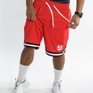 PHASEBASKETBALLSHORTRED STEEZE VILLANS Imperial Clothing