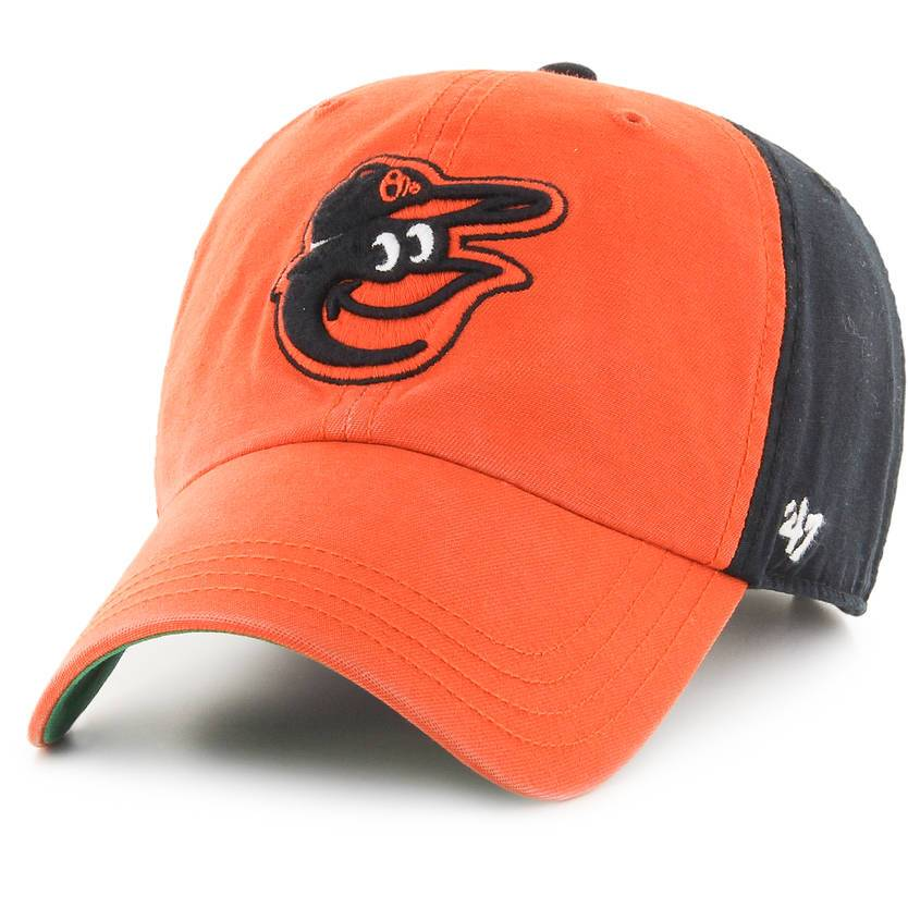 BALTIMORE ORIOLES ORANGE/BLACK FLAGSTAFF CLEAN UP 47 BRAND Imperial Clothing