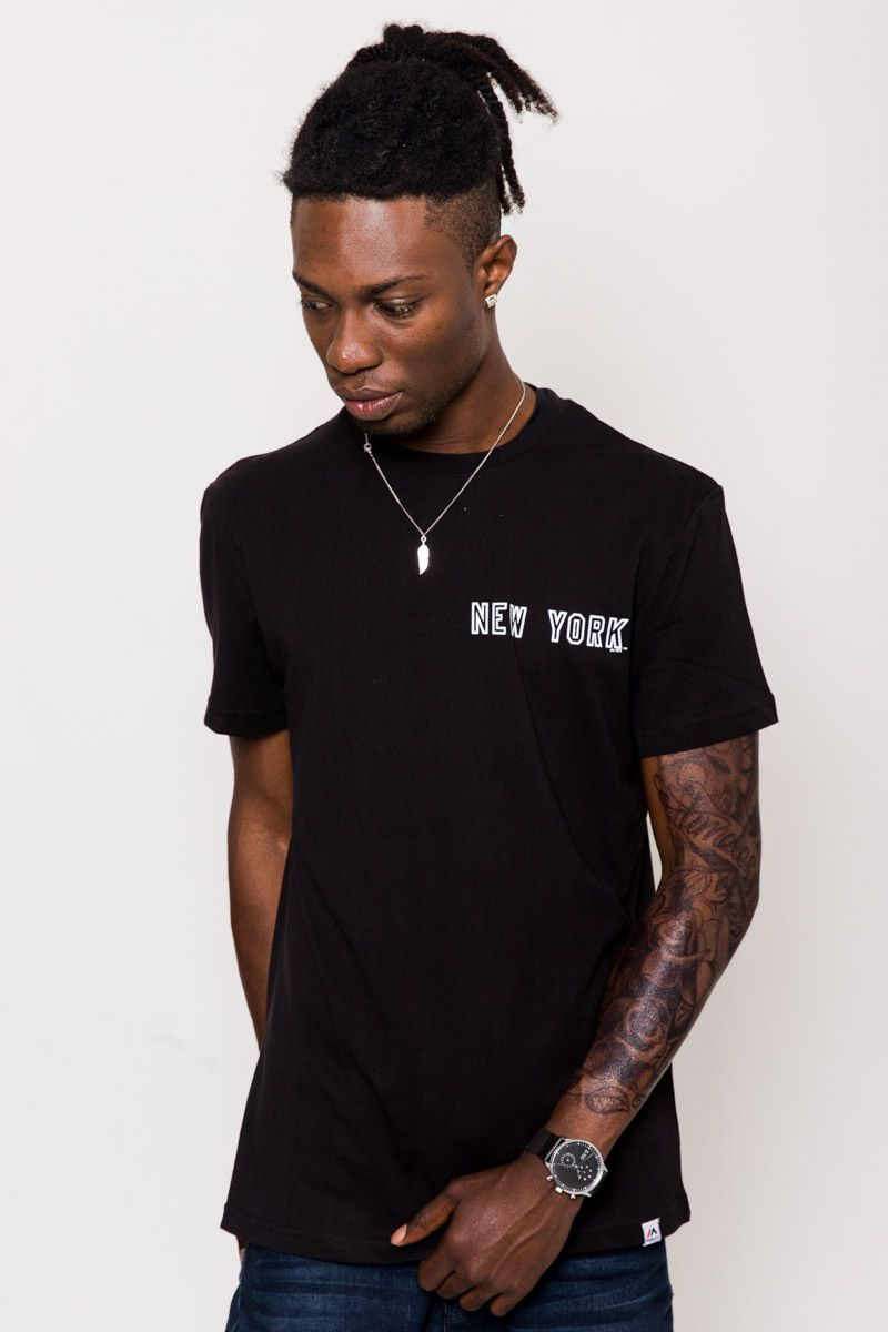 ca3f439539b46 MARQUER TEE NY YANKEES (BLACK) - Imperial Clothing. Majestic Athletic ...