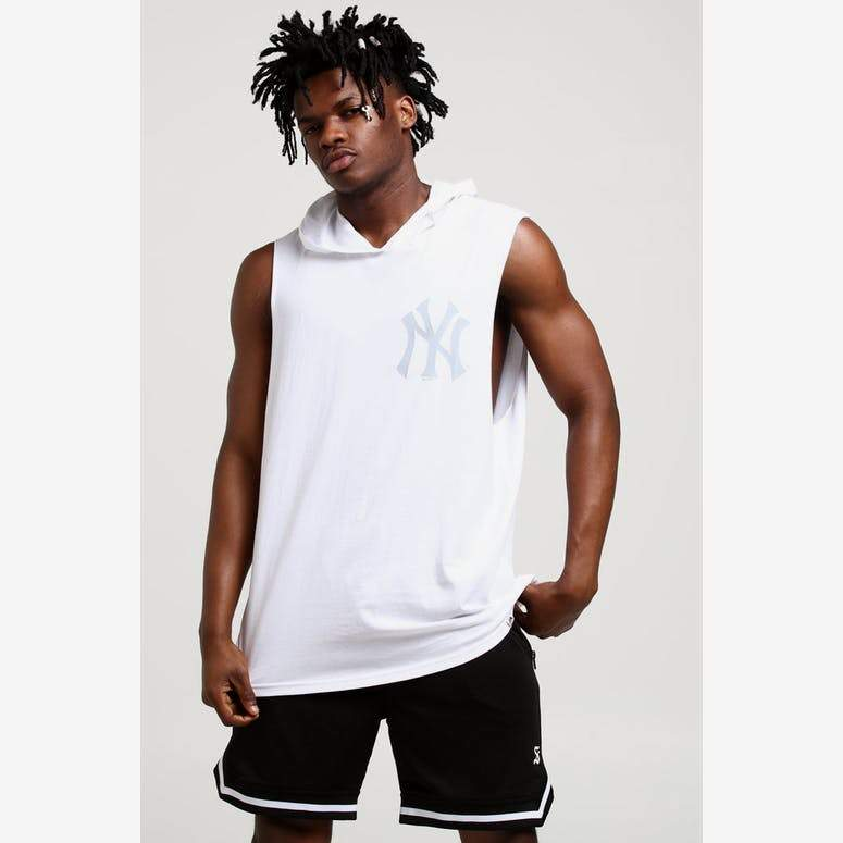 NY YANKEES (WHITE) VINCENNES MUSCLE HOOD Majestic Athletic Imperial Clothing