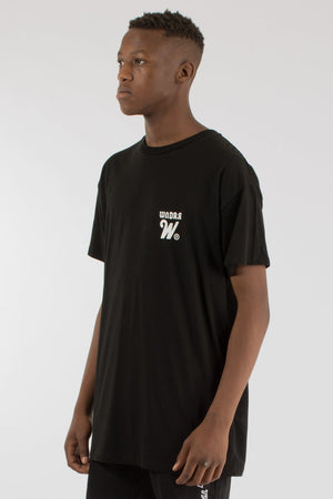 CUT ACROSS CUSTOM FIT TEE - BLACK WNDRR Imperial Clothing