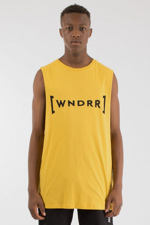 BREAKOUT MUSCLE TOP - YELLOW WNDRR Imperial Clothing