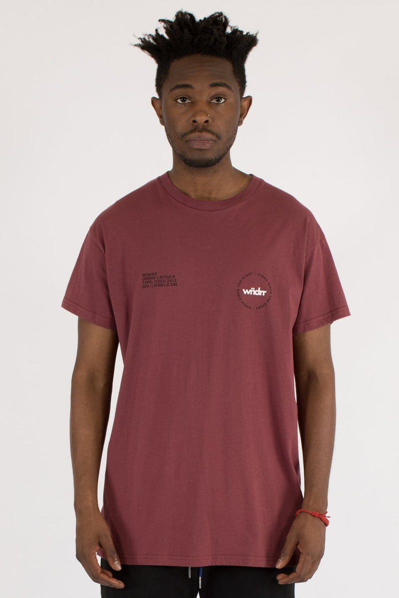 ICON CUSTOM FIT TEE - BURGUNDY WNDRR Imperial Clothing