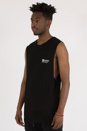 ABSOLUTE MUSCLE TOP - BLACK WNDRR Imperial Clothing
