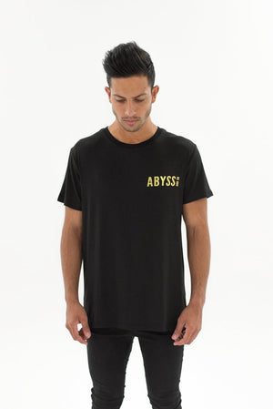 Gold Foil Drop Tail Bamboo T-shirt Black Abyss & Co Imperial Clothing
