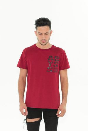 A&C Embossed Black Logo T-shirt Red Abyss & Co Imperial Clothing