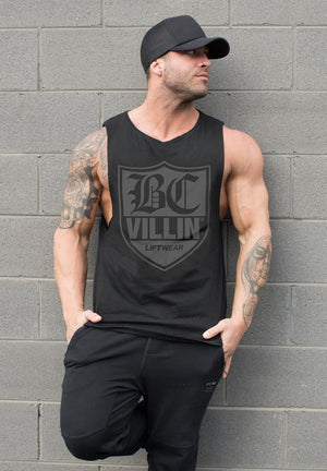 SLEEVELESS OG TANK BLACK BRICK CITY VILLIN Imperial Clothing