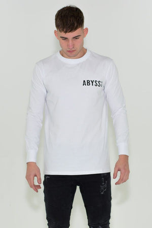 A&C LONGSLEEVE WHITE TEE Abyss & Co Imperial Clothing