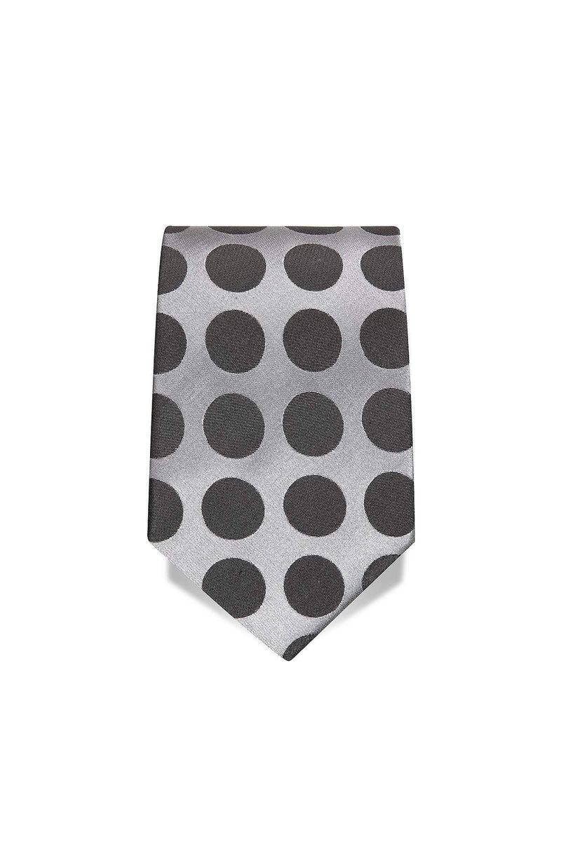 Black & Grey Spotted Tie Amos Luxury Imperial Clothing