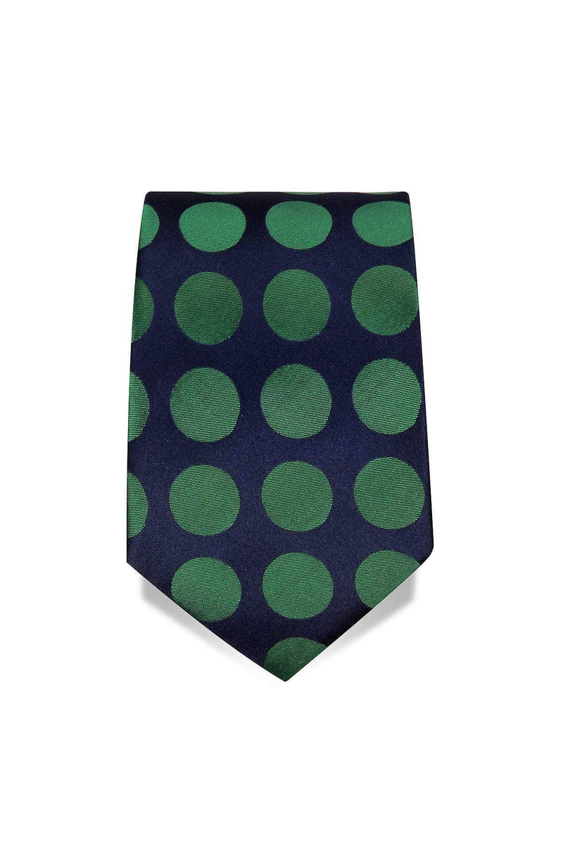 Green Spot Tie Amos Luxury Imperial Clothing
