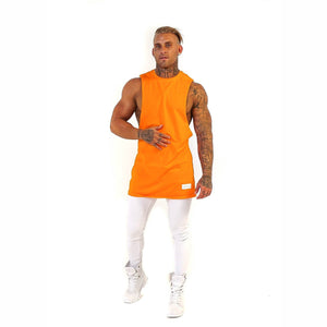 BASIX COLLECTION MUSCLE TEE (ORANGE) MANASSE COLLECTION Imperial Clothing