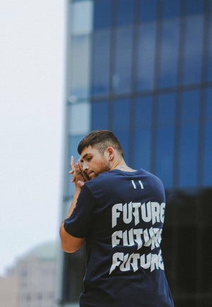BLUE THREE PEAT TEE FUTURE YOUTH Imperial Clothing