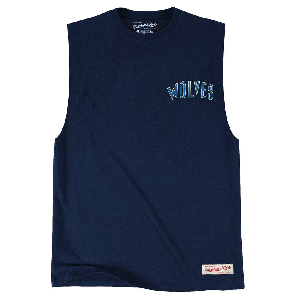 RETRO REPEAT LOGO MUSCLE MINNESOTA TIMBERWOLVES (NAVY) Mitchell & Ness Imperial Clothing