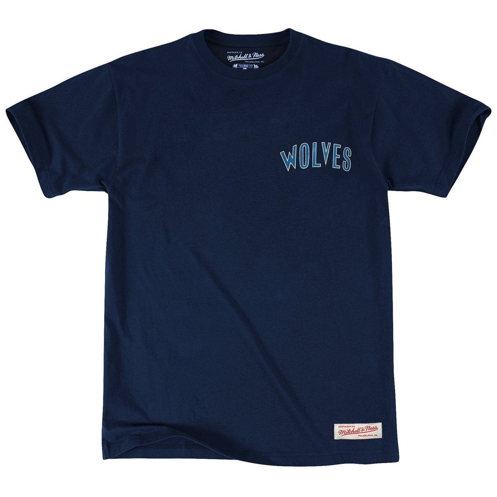 RETRO REPEAT LOGO TEE MINNESOTA TIMBERWOLVES (NAVY) Mitchell & Ness Imperial Clothing