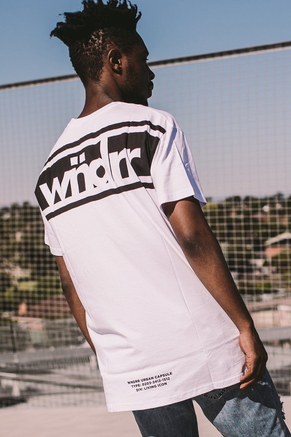 DIVIDE CUSTOM FIT TEE - WHITE WNDRR Imperial Clothing