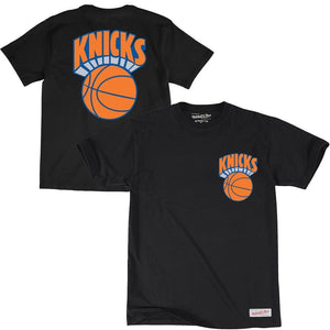 RETRO REPEAT LOGO TEE NEW YORK KNICKS (BLACK) Mitchell & Ness Imperial Clothing
