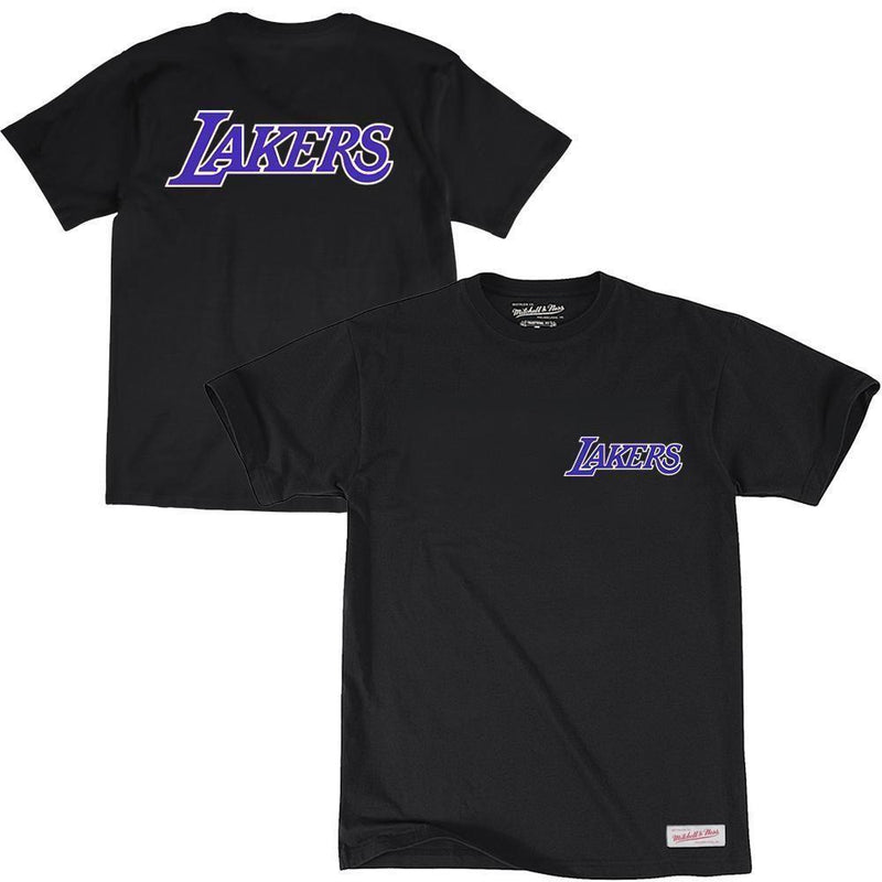 RETRO REPEAT LOGO TEE LA LAKERS (BLACK) Mitchell & Ness Imperial Clothing