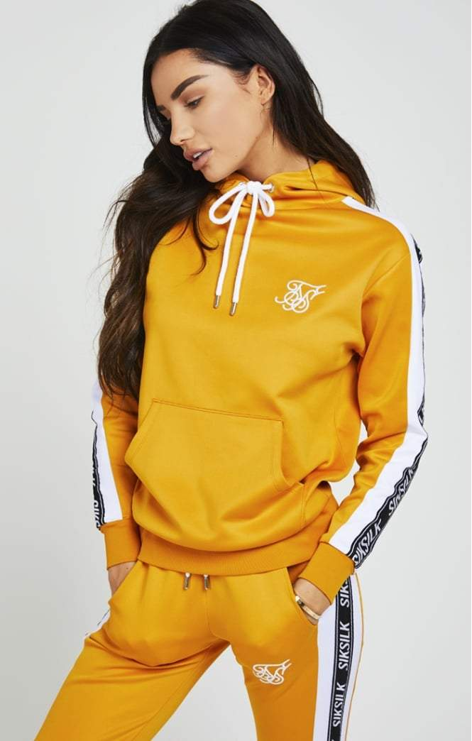 90S PANEL MUSTARD HOODIE SikSilk Imperial Clothing