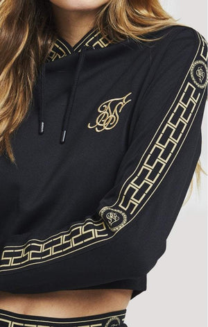 Athena Poly Cropped Hoodie – Black SikSilk Imperial Clothing