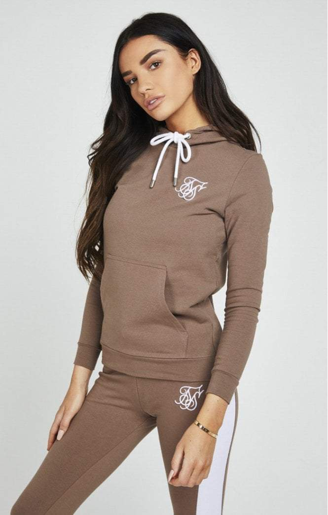 BEIGE FITTED OVERHEAD HOODIE SikSilk Imperial Clothing