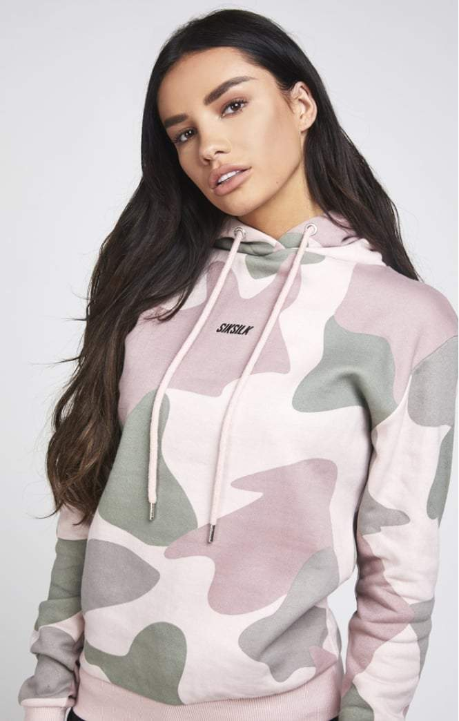 SikSilk Oversize BF Hoodie Vintage Camo [Size: 6] SikSilk Imperial Clothing