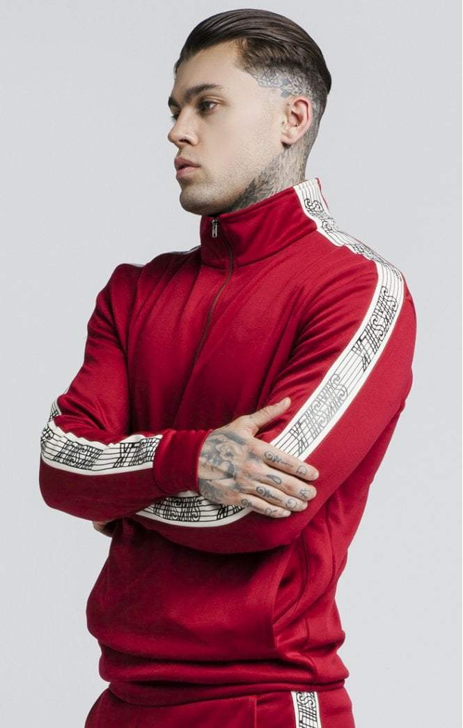 Quarter Zip Runner Top – Red SikSilk Imperial Clothing