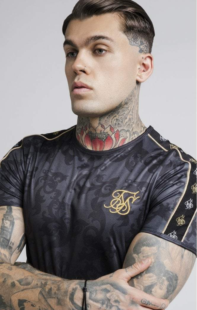 Tape Trials Gym Tee – Black & Gold SikSilk Imperial Clothing