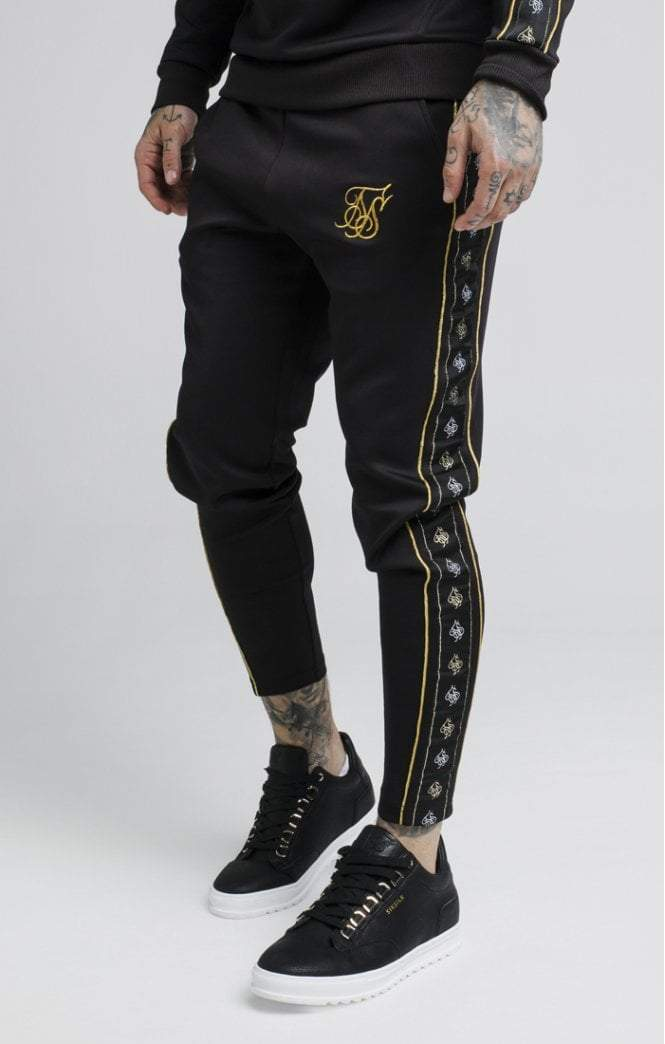 Taped Pants – Black & Gold SikSilk Imperial Clothing