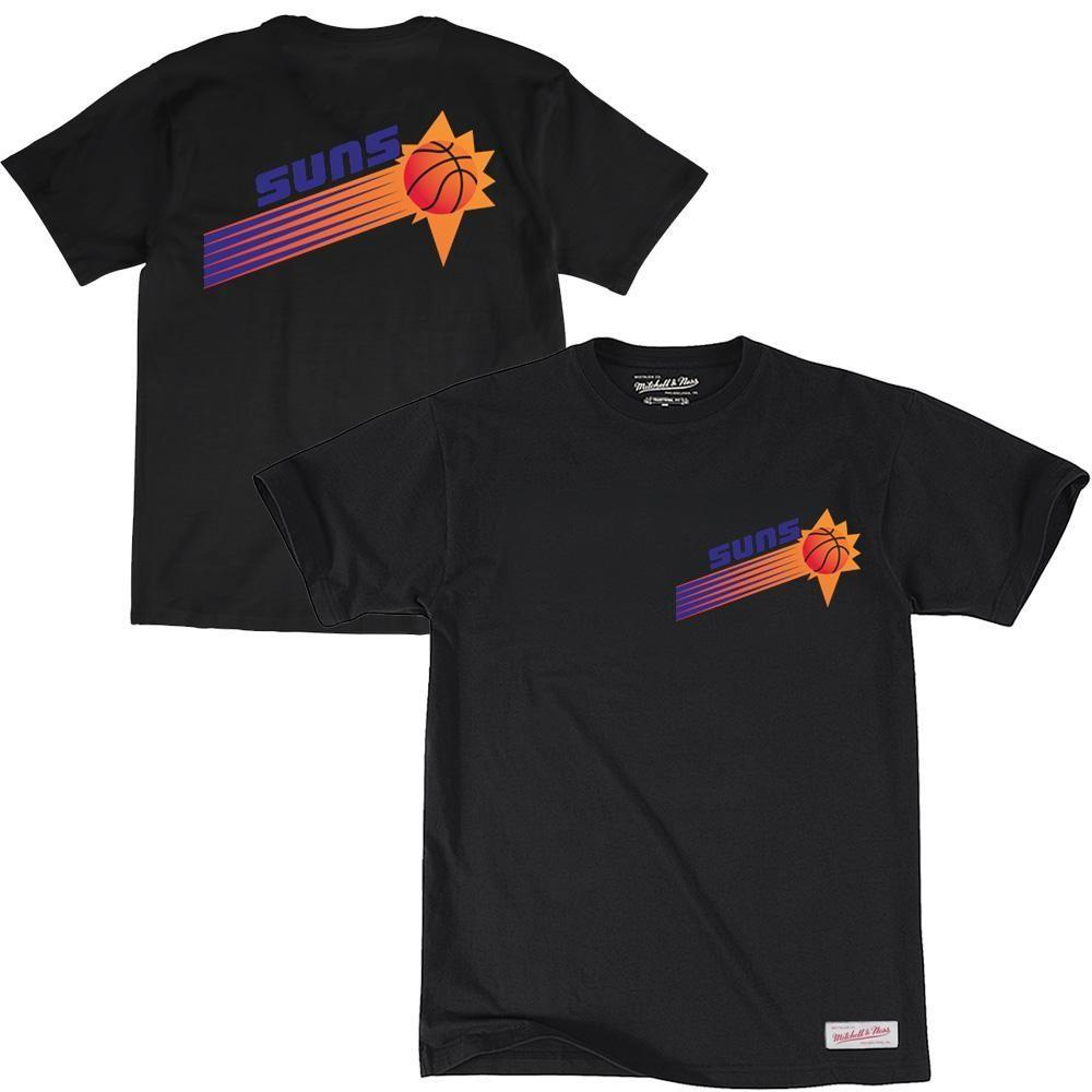 RETRO REPEAT LOGO TEE PHOENIX SUNS (BLACK) Mitchell & Ness Imperial Clothing
