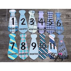12 Pcs Cute Necktie Monthly Stickers For Babies - Thestylique.com