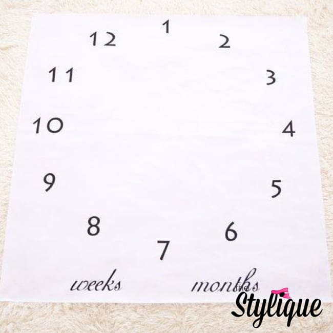 Baby Milestone Clock Blanket - Blankets | Thestylique.com