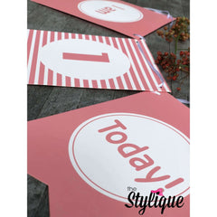 Highchair First Birthday Banner For Girls - Thestylique.com