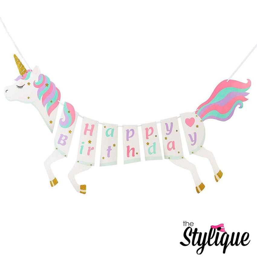 Unicorn Birthday Banner - Thestylique.com