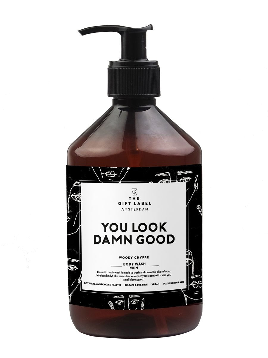 The Gift Labelin You look so good body wash.
