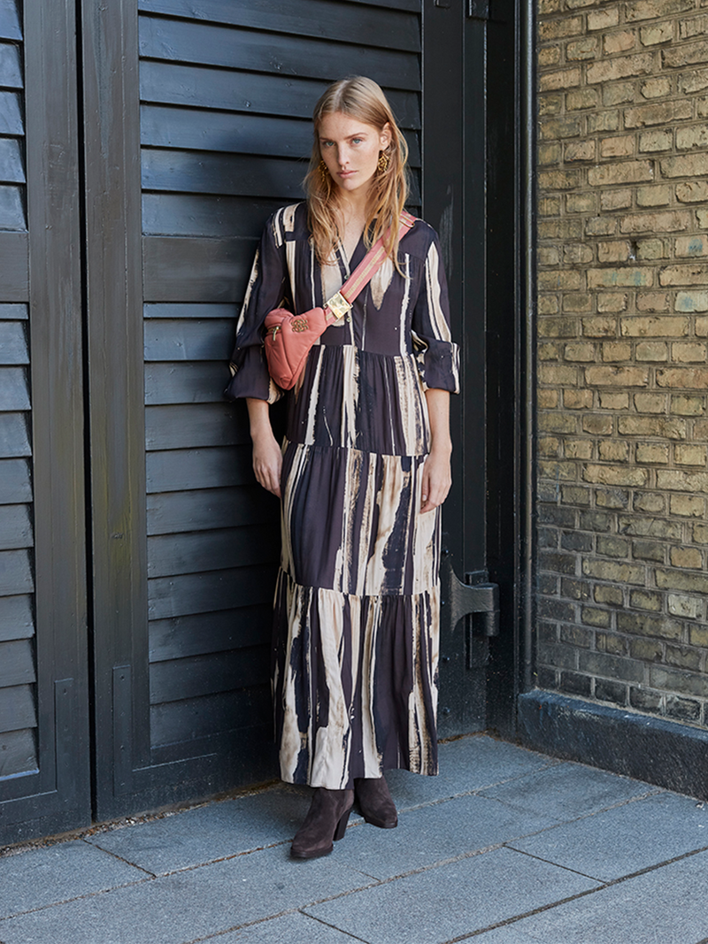 BROOKLYN long frill dress