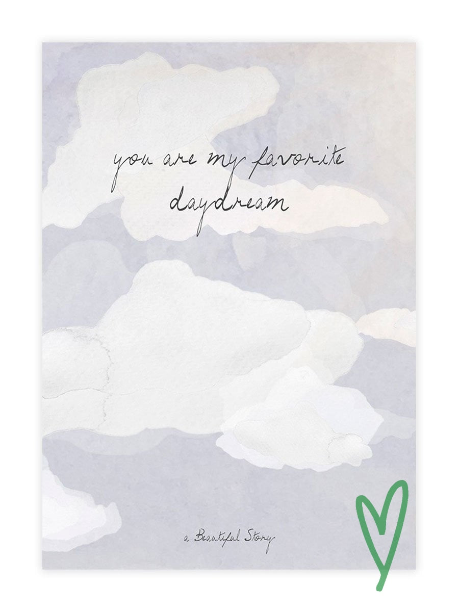 A Beautiful Storyn Clouds Greeting Card.