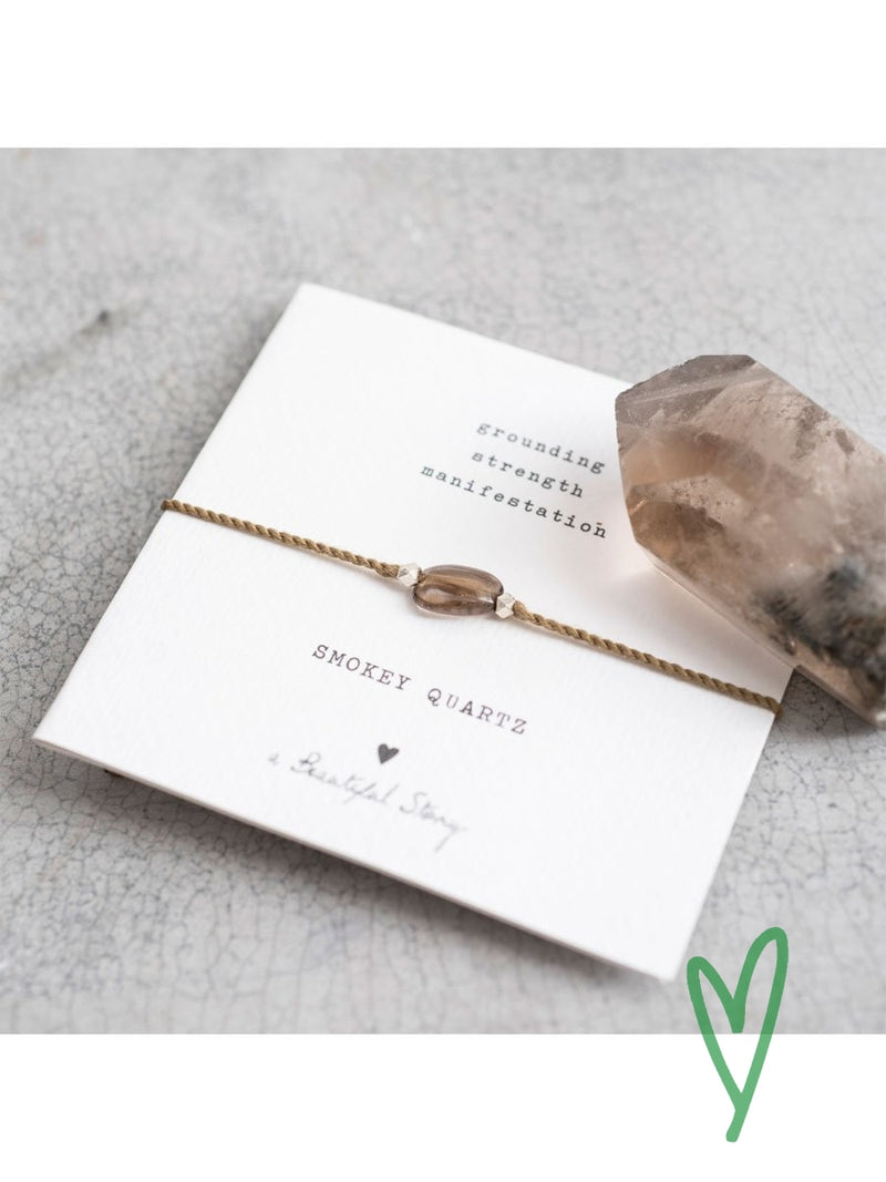 Gemstone card bracelet