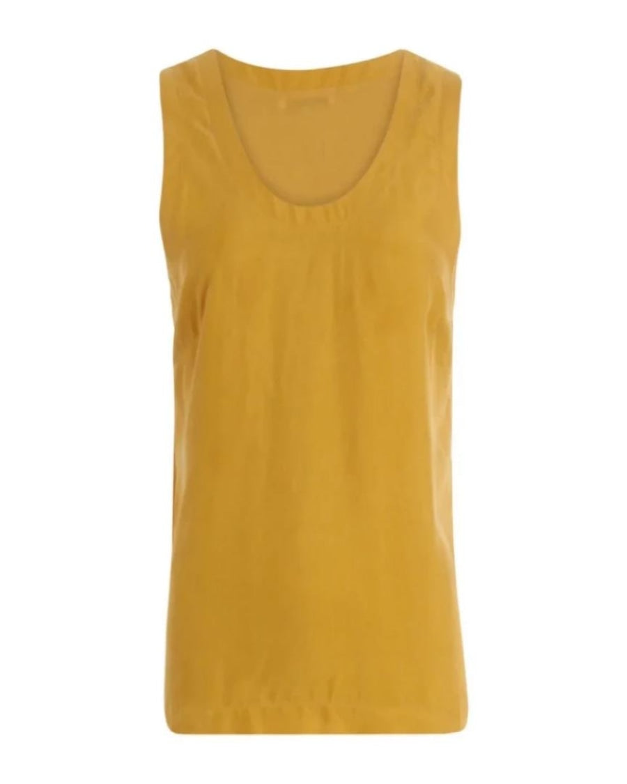 Coster Copenhagenin Strap top with jersey värissä Yellow.