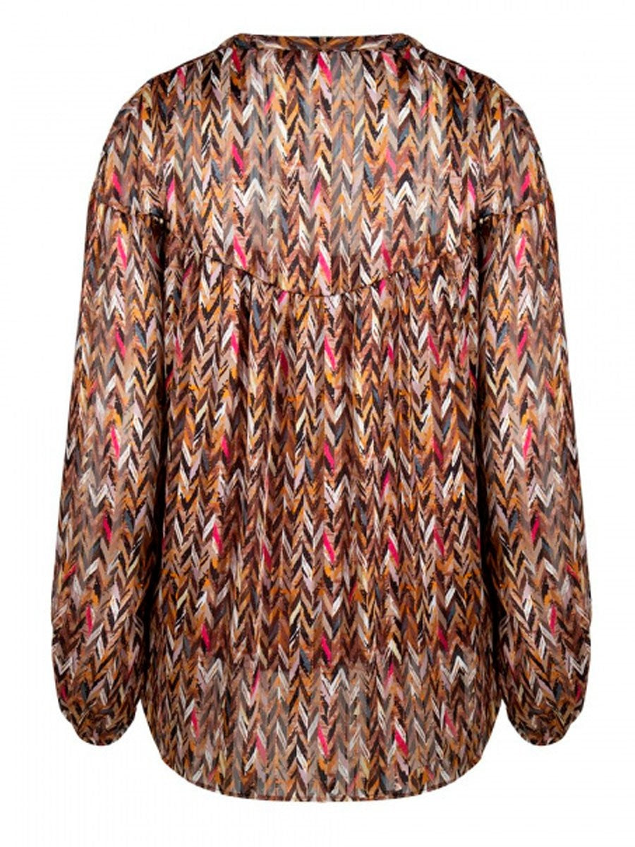 JUNE printed chevron blouse