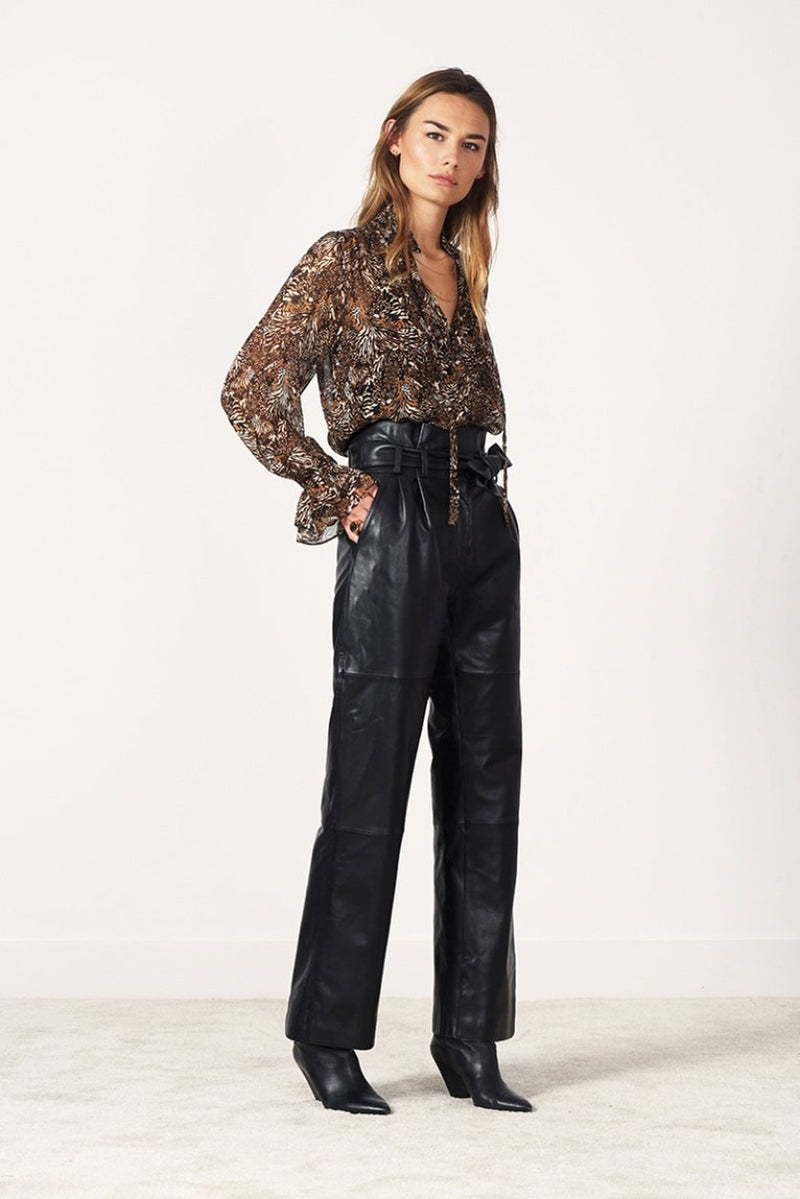 NOVA animal print blouse