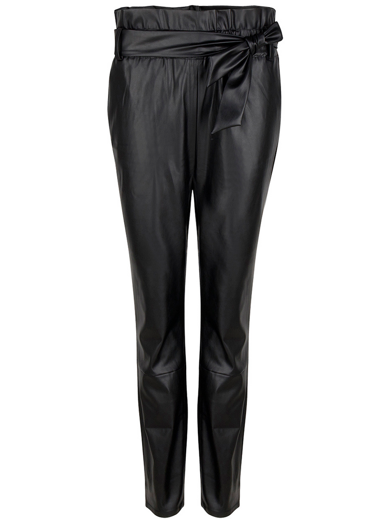 Danten Duncan leather pants värissä Black.