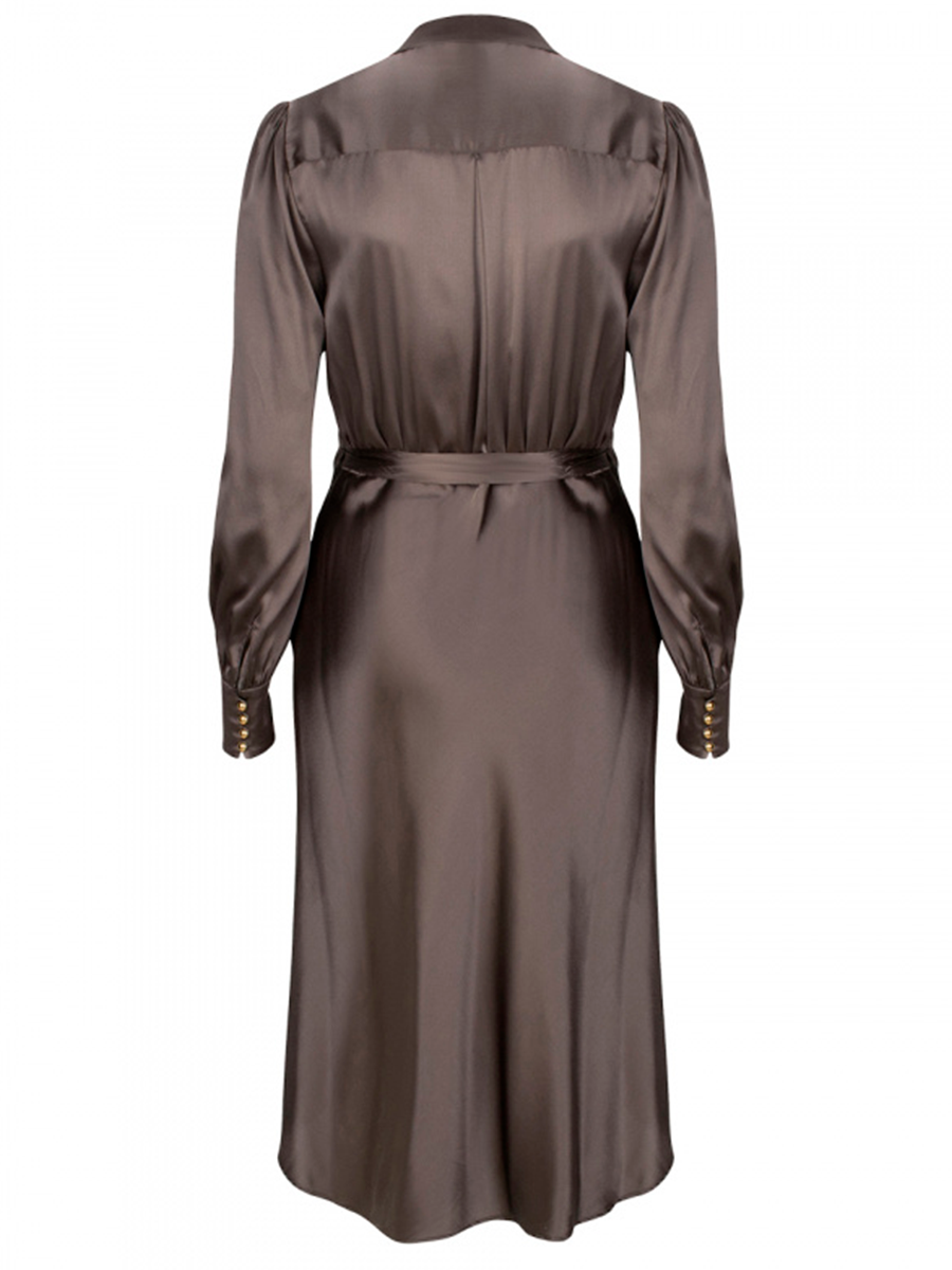 FRIEDA silk stretch wrap-dress