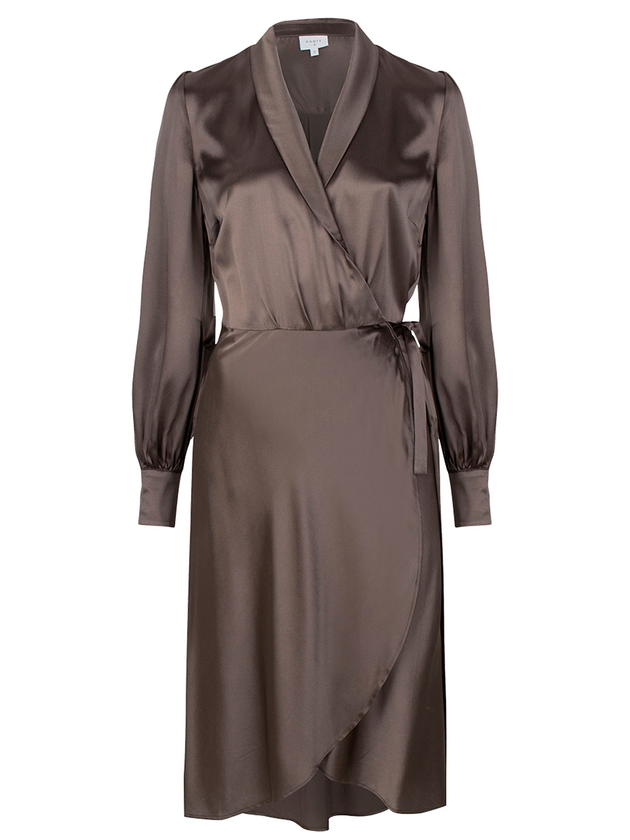 Danten Frieda wrap dress värissä Grey.