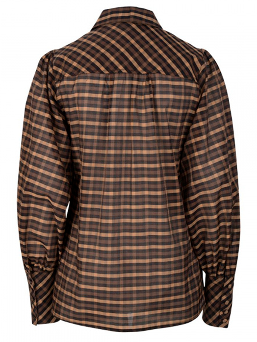 MAURI check blouse