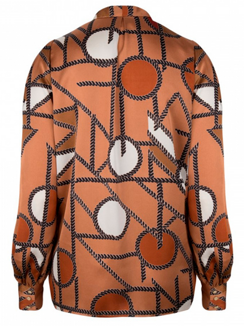 MILLER chain print blouse